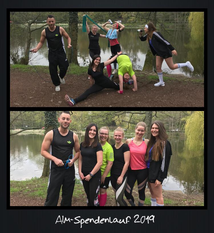 Teamfoto AIM-Spendenlauf